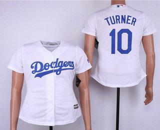 quality design a49bb 8f265 Women's Los Angeles Dodgers #14 Enrique Hernandez White Home ...