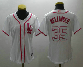 on sale bc0bb f9604 Women's Los Angeles Dodgers #35 Cody Bellinger White Fashion ...