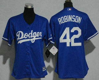 909a45960 Women s Los Angeles Dodgers  42 Jackie Robinson Retired Royal Blue Stitched  MLB Cool Base Jersey