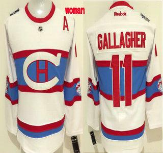 483875c06 ... Womens Montreal Canadiens 11 Brendan Gallagher Reebok White 2016 Winter  Classic Premier Jersey ...