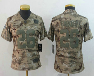 2835933b4 Women s New York Giants  26 Saquon Barkley 2018 Camo Salute to Service  Stitched NFL Nike