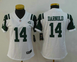 Women s New York Jets  14 Sam Darnold White 2018 Vapor Untouchable Stitched  NFL Nike Limited 70004657a
