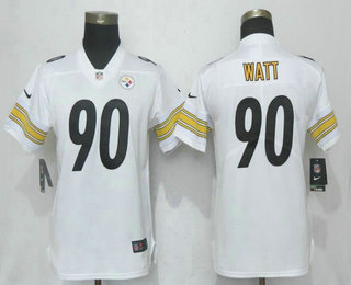 Women s Pittsburgh Steelers  90 T. J. Watt White 2017 Vapor Untouchable  Stitched NFL Nike Limited Jersey fee9cae8c