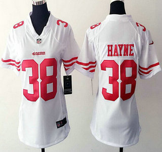 ... Womens San Francisco 49ers 38 Jarryd Hayne White Road NFL Nike Game  Jersey . ffbe8f466