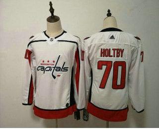 Women s Washington Capitals  70 Braden Holtby White 2017-2018 Hockey  Stitched NHL Jersey 24b140497c