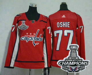 huge selection of 885eb 13a49 Women's Washington Capitals #77 T.J. Oshie Red 2018 Stanley ...