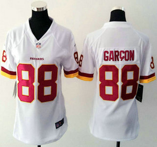... Womens Washington Redskins 88 Pierre Garcon White Road NFL Nike Game  Jersey . 5611a380b