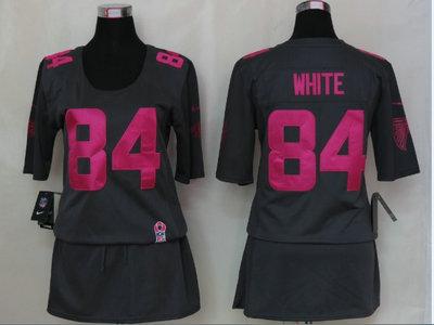 new product 2ec00 7ef35 dark grey julio jones womens jersey nfl atlanta falcons 11 ...