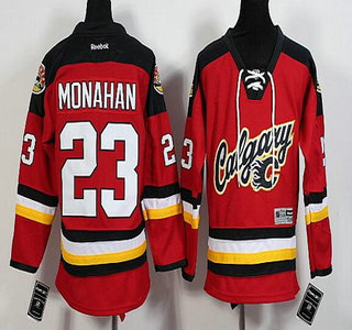 ... Youth Calgary Flames 23 Sean Monahan Red Premier Alternate Hockey  Jersey Best Value NHL Jerseys - New Calgary Flames Jarome Iginla Red CCM ... 1a3eb0019