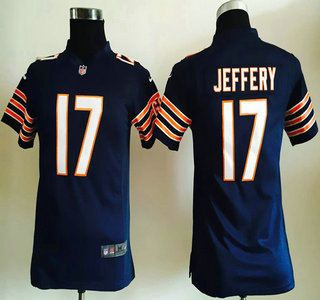 3c260401 Youth Chicago Bears #17 Alshon Jeffery Nike Navy Blue Game Jersey