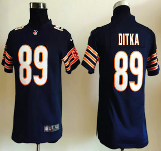 387b3a95 Youth Chicago Bears #89 Mike Ditka Nike Navy Blue Game Jersey