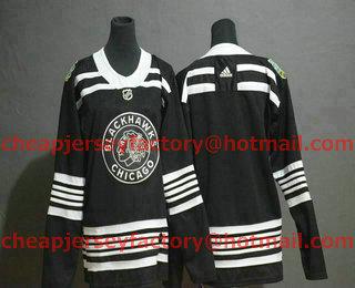 Youth Chicago Blackhawks Blank Black 2019 Winter Classic Adidas Stitched NHL  Jersey 328cba97a