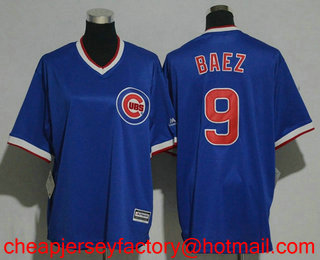 b3149376e Youth Chicago Cubs  9 Javier Baez Royal Blue Pullover 1994 Cooperstown  Collection Stitched MLB Jersey