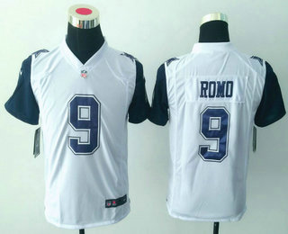 342b4f9a0 ... Limited Jersey Youth Dallas Cowboys 9 Tony Romo White 2015 Color Rush  Stitched NFL Nike Game Jersey ...