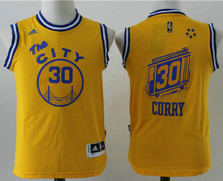 official photos 0499b d1d2c Youth Golden State Warriors #30 Stephen Curry The City ...