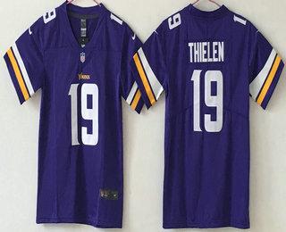 4e460b39 ... new zealand youth minnesota vikings 19 adam thielen purple 2017 vapor  untouchable stitched nfl nike limited