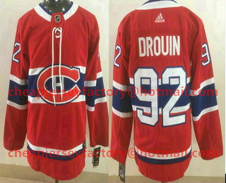 buy popular ca682 5a1ef Youth Montreal Canadiens #92 Jonathan Drouin Red With A ...