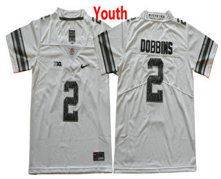 ... youth ohio state buckeyes 2 j. k. dobbins gridiron white with camo  stitched ncaa 2017 nike college 6446cf482