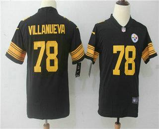 super popular b0309 bc1c7 Youth Pittsburgh Steelers #78 Alejandro Villanueva Olive ...