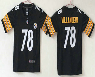 ... Youth Pittsburgh Steelers 78 Alejandro Villanueva Black 2017 Vapor  Untouchable Stitched NFL Nike Limited Jersey Mens ... bf1698e0e13