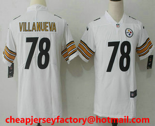 low priced f5a43 693f4 youth nike steelers 84 antonio brown white stitched nfl ...