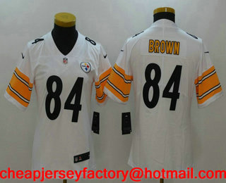 youth pittsburgh steelers 84 antonio brown white 2017 vapor untouchable stitched nfl nike