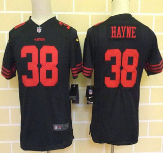 0aeaa515833 Kid s San Francisco 49ers  28 Carlos Hyde 2015 Nike Black Game Jersey